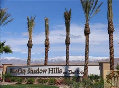 Sun City Shadow Hills in Indio Entrance